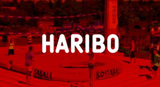 Haribo brand activation with new sport Bossaball