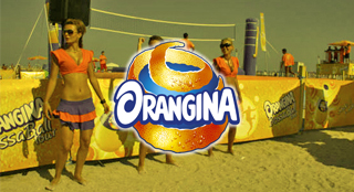 Orangina brand activation with Bossaball
