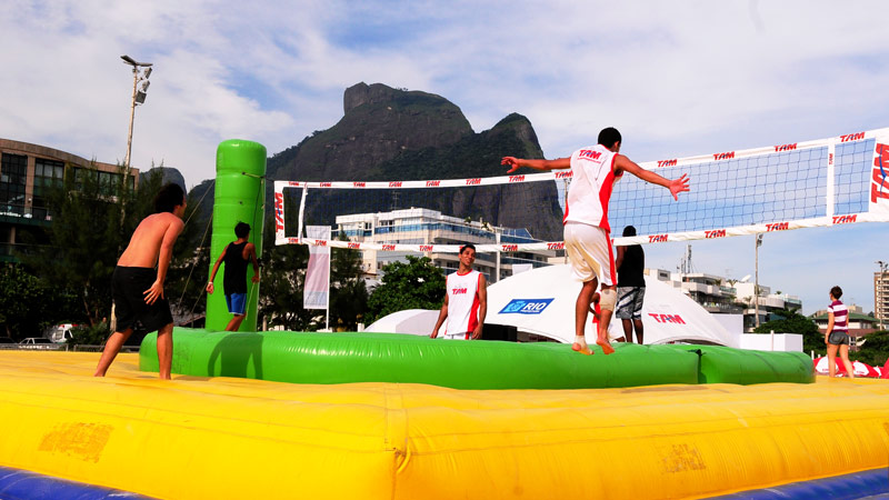 TAM Airlines Passion for Rio Volleyball Soccer Football Bossaball New sports Hybrid sports Gymnastics Rio de Janeiro