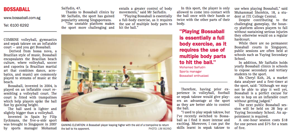 Bossaball Ministry Education Singapore