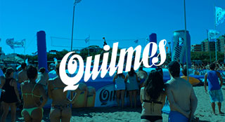 Quilmes brand activation with Bossaball