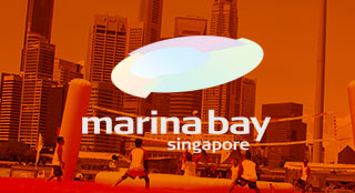 Marina Bay governmental project with new sport Bossaball