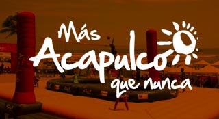 Acapulco tourism event with new sport Bossaball