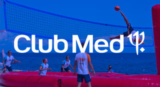 Club Med tourism event with new sport Bossaball