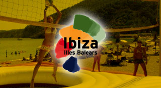 Ibiza tourism event with new sport Bossaball