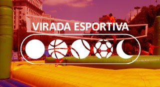 Virada Esportiva sports fair with new sport Bossaball