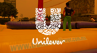 Unilever brand activation with Bossaball