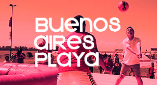Buenos Aires Playa tourism event with Bossaball