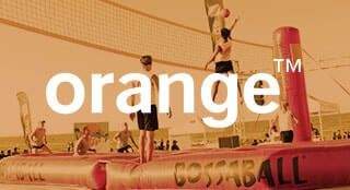 Orange brand activation with Bossaball