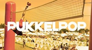 Pukkelpop music festival with new sport Bossaball