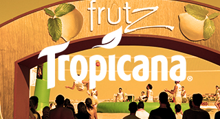 Tropicana Frutz brand activation with Bossaball