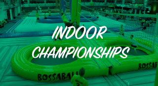 Indoor league tournament with new sport Bossaball