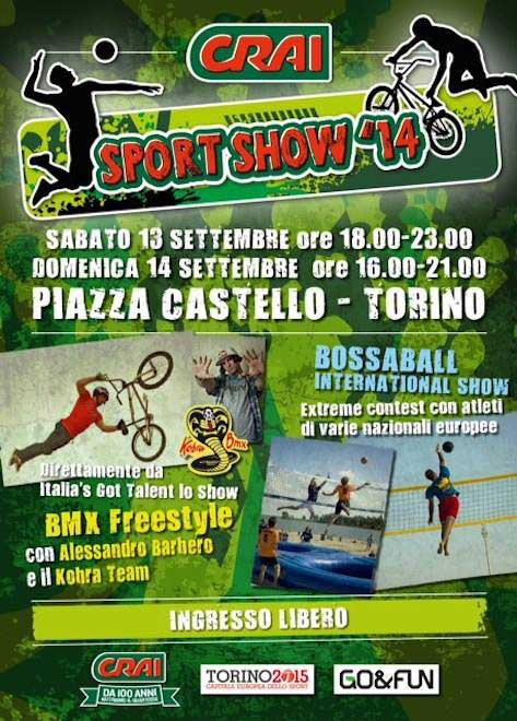 Bossaball CRAI Turin Italy Piazza Castello New sports Hybrid sports Volleyball Soccer Football Gymnastics Music