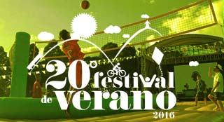 Festival de Verano sports fair with new sport Bossaball
