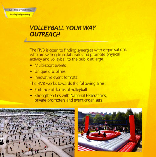 Volleyball federation and Bossaball