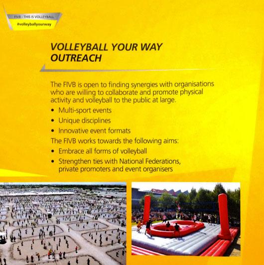 Volleyball federation and Bossaball