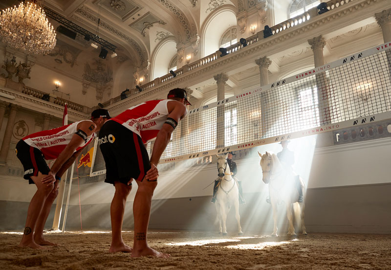 Bossaball Austria Vienna FIVB Beach Volleyball World Championships Austrian Airlines New sports Hybrid sports Volleyball Soccer Football Gymnastics Music Capoeira Bossa Nova