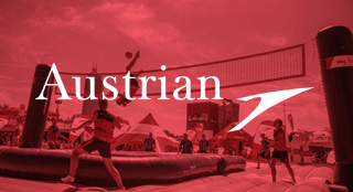 Austrian Airlines brand activation with Bossaball