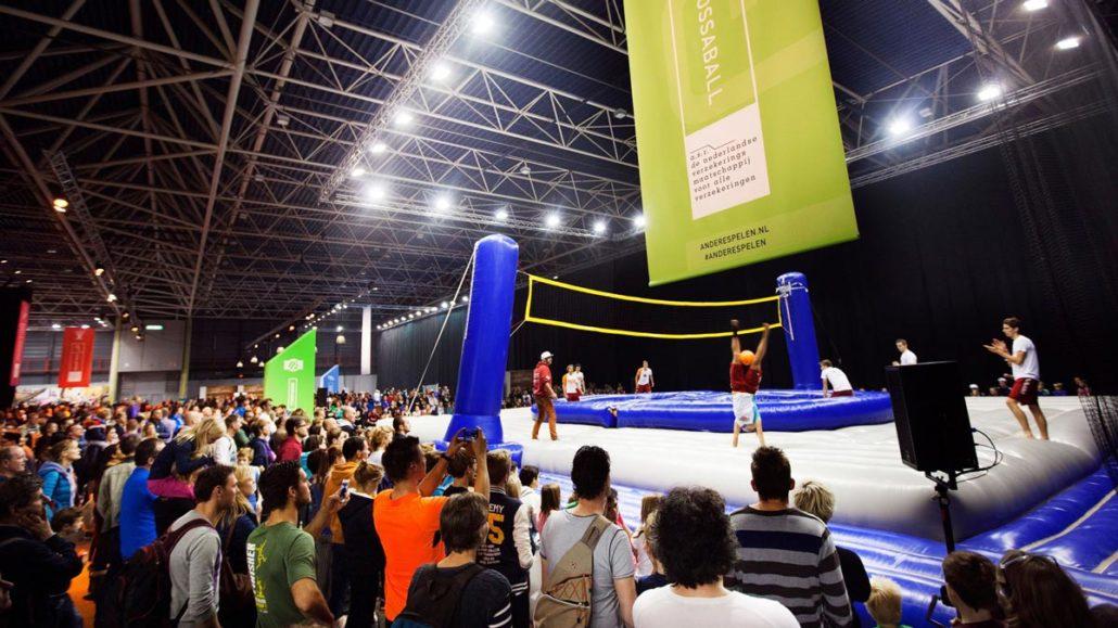 Sports festival New sports Bossaball Soccer Football Volleyball Netherlands Hybrid sports Gymnastics Utrecht