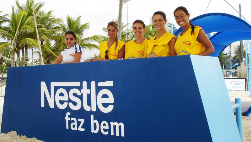 Nestle brand activation with Bossaball