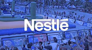 Nestlé brand activation in Brazil with new sport Bossaball