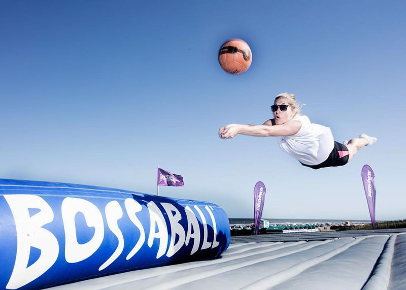 TV channel Brand activation TNT Sports with new sport Bossaball