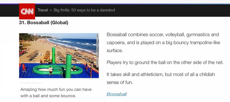 Emocionante deporte Bossaball