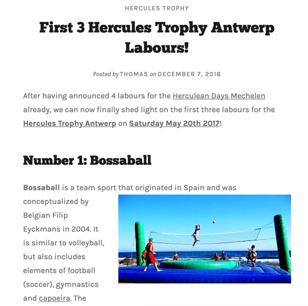 Innovative sports team building Bossaball