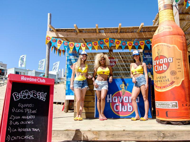 activación marca ron Havana Club Bossaball