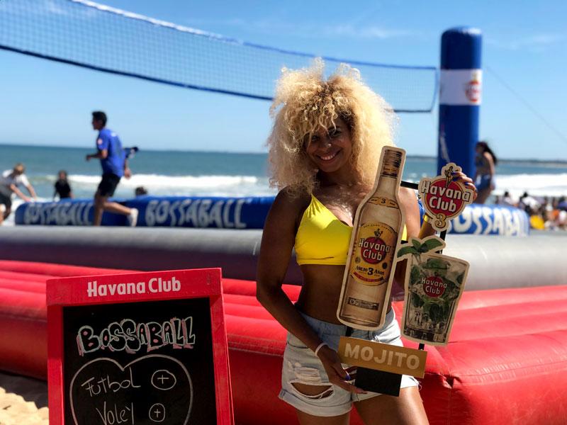 Rum brand activation Havana Club Bossaball