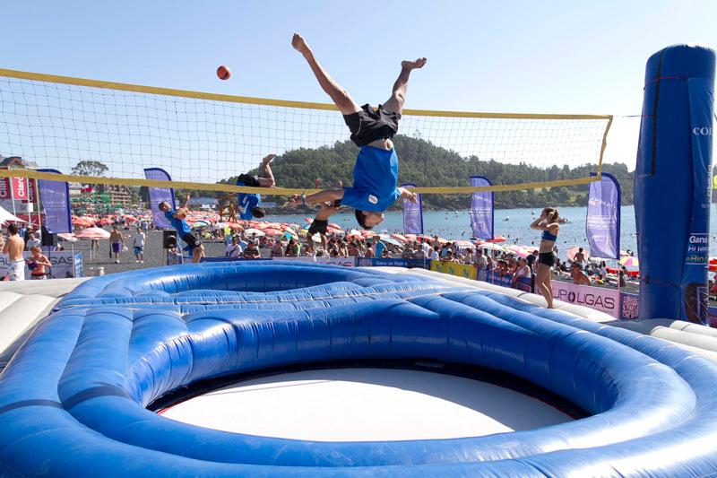 benefícios de saúde trampolin benefícios de saúde infláveis Bossaball novo esporte