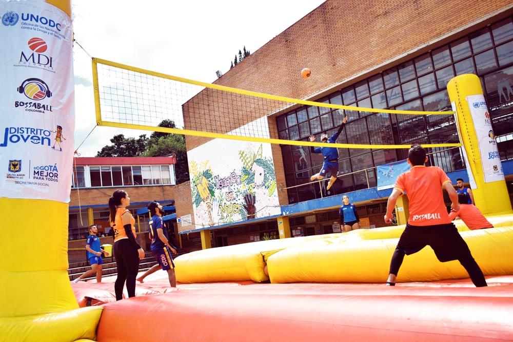 Nações Unidas Line up Live Up Colombia Nuevo deporte Bossaball Vamos nessa