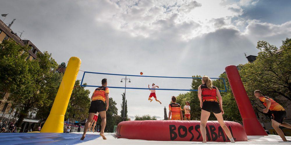 Örebro City Sport Festival hosts first ever Bossaball event in Sweden